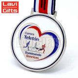 Medaglia Handmade in lega di zinco di sport del metallo del ricordo del premio di nichelatura del trofeo di figura speciale rotonda poco costosa di Customed 3D