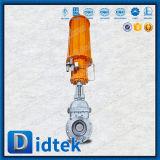 Valvola flangiata attuata pneumatica aumentante dell'estremità della galleria del gambo di Didtek