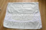 Flanela Macia duplo de alta qualidade 100% algodão Presépio Hipoalergênicos Protector de colchão impermeável de pano de malha branca