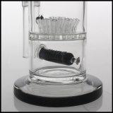 Mélange de couleur en verre borosilicaté percolateur sprinkleur tube droit maillées Perc en ligne La fumée de cigarette pipe à eau