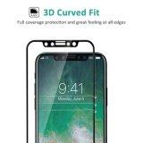 La dureté HD de la couverture totale 9h de Ctunes 3D effacent le protecteur d'écran en verre Tempered Bulle-Libre Anti-Rayent le film pour l'iPhone X d'Apple