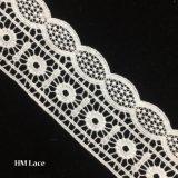 merletto del testo fisso di 6.5cm, merletto dell'annata, bianco con l'ornamento Hmw6032 dei fiori
