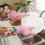 Бытовые перчатки латексные перчатки для очистки с длинными манжеты