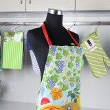 요리를 위한 면 능직물 직물 여자 디자인 부엌 앞치마