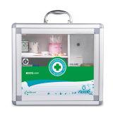 Puerta de vidrio aluminio Botiquín de primeros auxilios con asa portátil