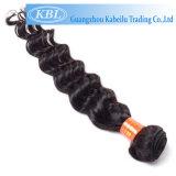 Индийская глубокая ранг 3A человеческих волос волны