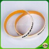 Kundenspezifischer Firmenzeichen-Großverkauf-SilikonWristband für fördernde Geschenke