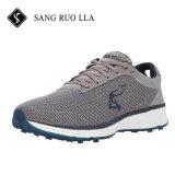 新しいデザイン柔らかい網の軽量のゴルフ靴メンズ靴