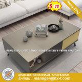 Verre aluminium moderne Partition/station de travail de bureau en bois (HX-8N0798)