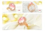 女性の宝石類のリングの開いた調節可能なローズの金によってめっきされる方法宝石類