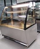 Competetive 가격 케이크 대 전시 기계를 가진 3개의 선반 생과자 전시 진열장