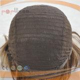 실크 상단 100% 사람의 모발 가발 (PPG-l-0314)