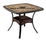 탁상 HS7601dt를 가진 옥외/정원/안뜰 등나무 또는 주조 알루미늄 테이블
