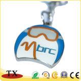 Chaîne principale en alliage de zinc en métal de coloration avec le logo gravé