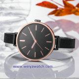 Signora Quartz Wist Watch, vigilanze di signore (WY-17026C) della cinghia della lega della maglia dell'OEM