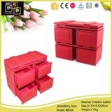 """Новый дизайн упаковки коробки ювелирных изделий """"красного цвета с четырьмя ящиками (8248)"""