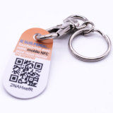 Trousseau de clés imperméable à l'eau Keyfob de PVC d'IDENTIFICATION RF de 13.56MHz Ntag 216