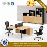 Partition L poste de travail de forme (HX-8N0340) de bureau de portées des meubles 6 en métal
