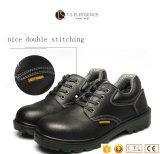 Sapatas de segurança resistentes do trabalho do enxerto de pouco peso de couro dos homens