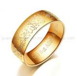 Ring van de Juwelen van het Staal van het Titanium van de Verkoop van de douane de Hete Moslim