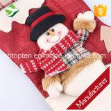 Sacchetto della caramella del Babbo Natale della calza dell'ornamento dell'albero dei regali di natale del calzino degli alci