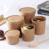 Pour passer de la Soupe de papier compostables Tumbler Eco Friendly une soupe chaude tasse de papier kraft