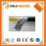 PVC에 의하여 격리되는 PVC에 의하여 넣어지는 끈목에 의하여 보호되는 유연한 자동 조종 케이블