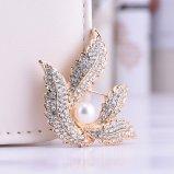 Broche de bijou de mode de colombe de perle