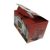 Projeto novo caixa de empacotamento do cartão de 3 dobras com dois