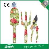 Insieme di strumenti di giardinaggio compreso il Trowel, il coltivatore e Pruner
