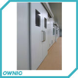 Automatic Sliding Hospital Door Double Open Built-in Type for Corridor and Operation Room