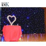 4x6m rideau noir rideau de lumière LED Bleu étoile pour le parti/cas de mariage