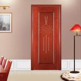 Puertas de madera sólidas con la pintura de la chapa para la casa interior