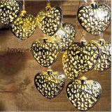 Indicatore luminoso solare della stringa dell'indicatore luminoso LED della stringa del cuore della decorazione dei 12 LED con energia solare