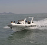 8.3M Liya/27FT casco de fibra de vidro militar barco inflável de costela de cabina