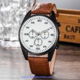 De Zwitserse Pols van het Kristal van het Horloge van de Mensen van het Kwarts van het Embleem van de douane voor de Mens (wy-17014B)