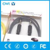 Тонкий кабель от 3.5mm до 3.5mm стерео эластичный тональнозвуковой