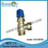 La válvula de parada de cobre amarillo/Robinet Prise la carga del En (V211B702)
