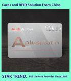 Cartão de luxo feitos com tarja magnética Hot-Stamp plástico para Club