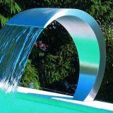 Acciaio inossidabile 304 cascate esterne di giardinaggio della fontana di parete della cortina d'acqua della piscina