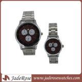 Het in het groot Horloge van het Paar van het Horloge van de Legering van het Polshorloge van het Kwarts van de Manier