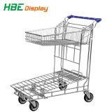 Chariots de supermarché Warehouse Cargo avec frein