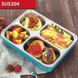 1500ml Acero Inoxidable Bento Box Lunch con 4 compartimientos 22118