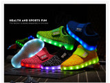 Kids Fashion Chaussures Chaussures LED Rechargeable LED Fly tricot