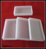 Envase de cristal blanco lechoso de cuarzo fundido