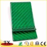 Erstklassige grüne Kohlenstoff-Faser-Universalluxuxgeld-Klipp
