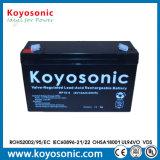 a válvula de 12V 7.5ah regulou a bateria acidificada ao chumbo do UPS da bateria de Rechargeble