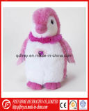 Adorável Rosa Pinguim de pelúcia brinquedo para o Dia de Natal