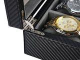De uitvoerende Cufflink van het Horloge van het Leer Organisator van de Ring van Juwelen voor Mensen