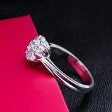Ring de Van uitstekende kwaliteit van het Zirkoon van de Stijl van de manier Echte Zilveren